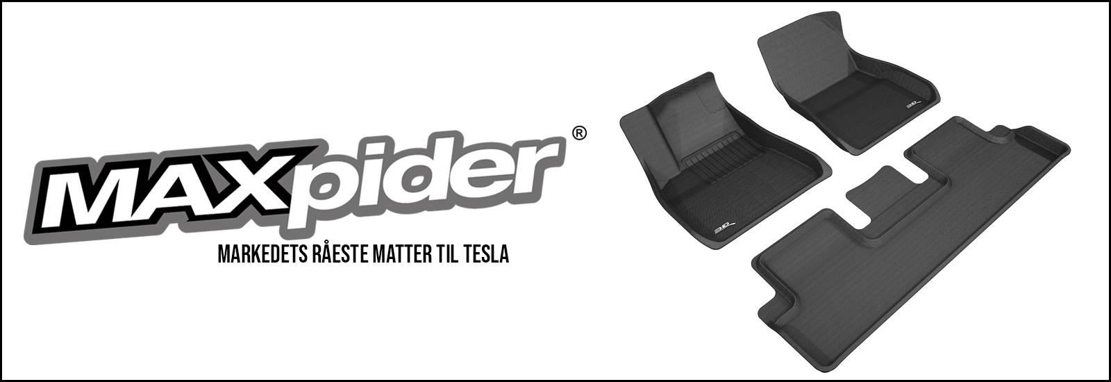 maxpider tesla model s 3 x bilmatter gulvmatter matter