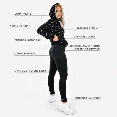 Bilde av Jersey scrunch leggings - black