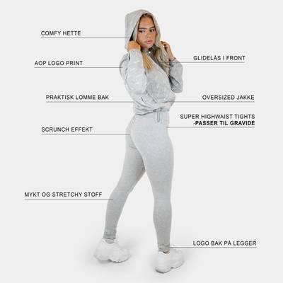 Bilde av Jersey scrunch leggings - gray melange