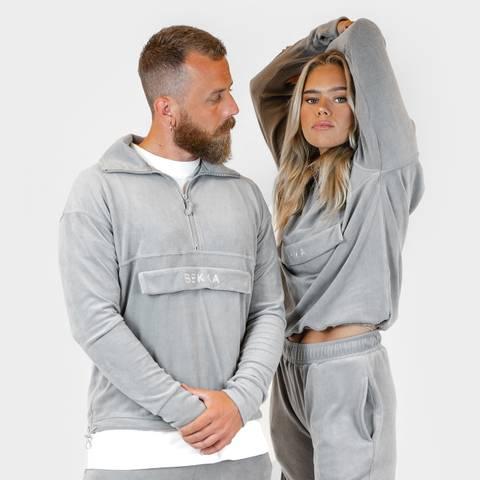 Bilde av Fleece pullover - light gray