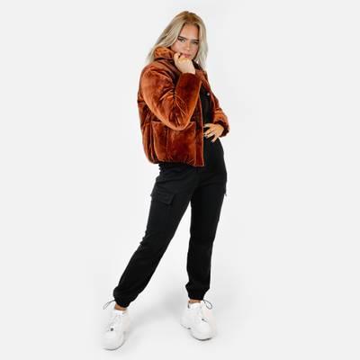 Bilde av Velvet puff jacket - rusty red