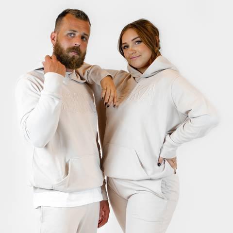 Bilde av HIM&HER hoodie - creme