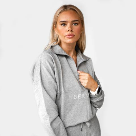 Bilde av Highschool zip sweater - gray melange