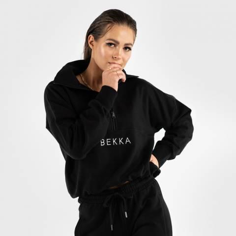 Bilde av Highschool zip sweater - black