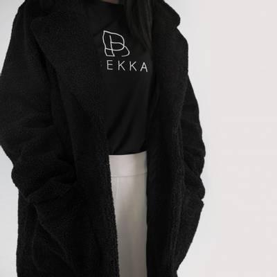 Bilde av Chunky teddy coat - black