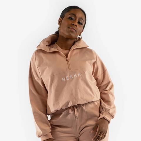 Bilde av Highschool zip sweater - pinky nude