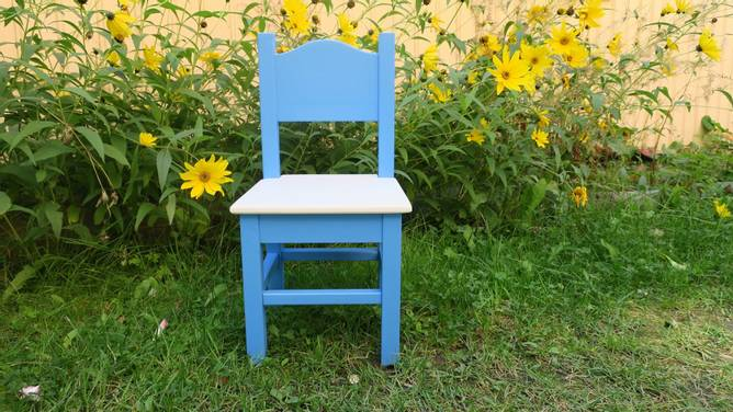 Bilde av Barnestol #2 blå