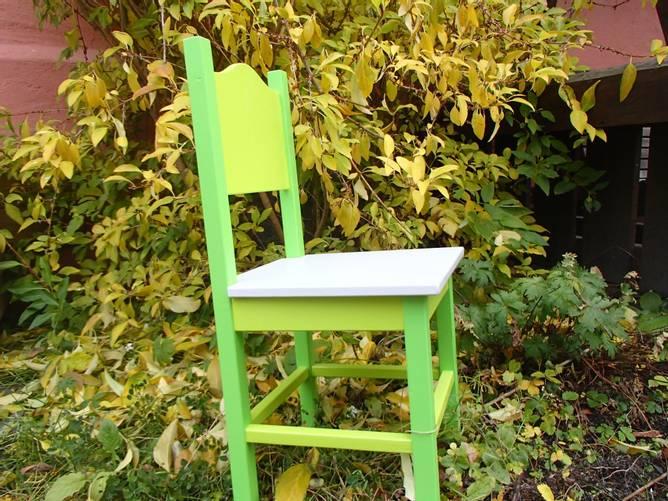 Bilde av Stor barnestol grønn