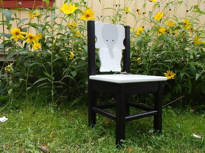 Bilde av Elefantstol sort