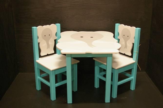 Bilde av Elefantbord turkis
