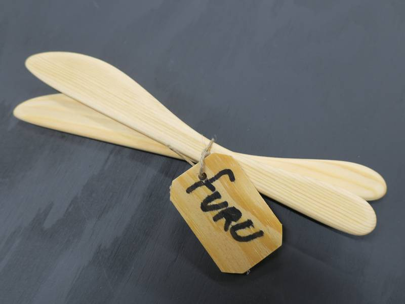 Bilde av 2 smørkniver furu
