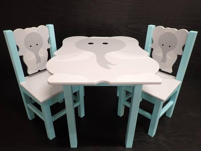 Bilde av Elefantstol aqua soft