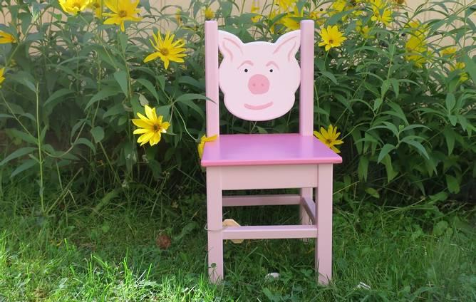 Bilde av Barnestol rosa gris