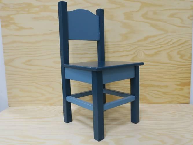 Bilde av Barnestol retro blå