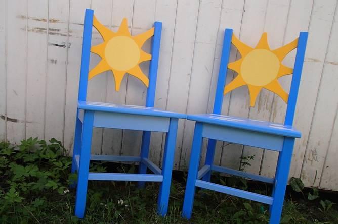 Bilde av Stor barnestol sol - special edition
