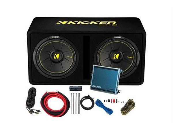 Bilde av Kicker KickPack™ - KPC2x12 basspakke Kasse, Amp og Kabel