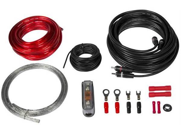 Bilde av ESX strømkit, 10 mm² Kabelkit med RCA og Mini-ANL