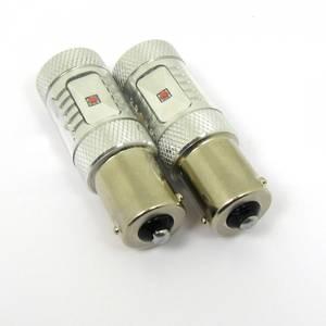 Image of LED bulb BAU15S/PY21W Red