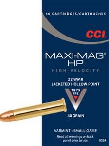Bilde av CCI 22 WMR HP Maxi-Mag  JHP  50 skudd