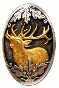 Bilde av Pistolgrepskappe Hjort 2 Gull