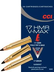 Bilde av CCI 17 HMR V-MAX 50 skudd