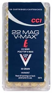 Bilde av CCI 22 WMR 30 V-MAX  50 skudd