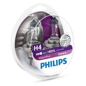 Bilde av H4   PHILIPS VISIONPLUS +60%