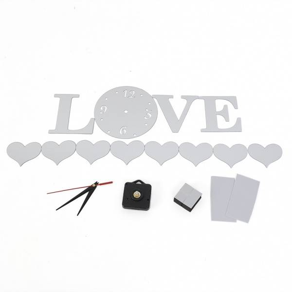 Bilde av LOVE- Veggklokke & Speil