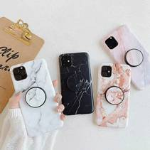 iPhone 12/12 Pro deksel - Marmor Med Holder
