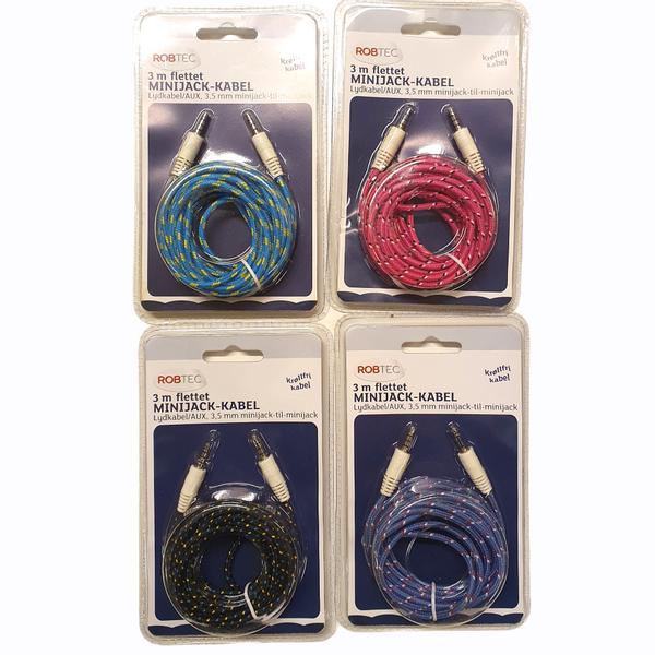 Bilde av AUX-kabel 3meter - Flere farger