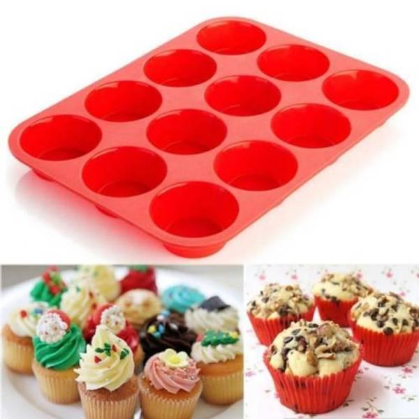 Bilde av Silikonform For 12 Muffins/Kaker