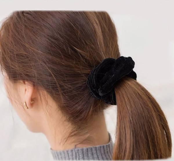 Bilde av Scrunchie/hårstrikk Mange Ulike Farger