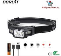 Boruit B30 - 260lm - Lett & Kompakt Hodelykt- Oppladbar