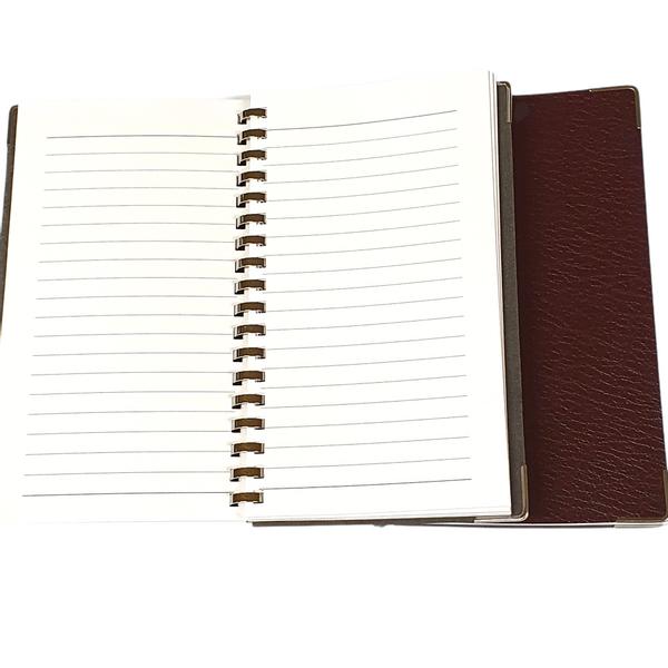 Bilde av Notatbok i imitert skinn'