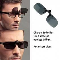 Clip-on Solbriller- Polarisert!