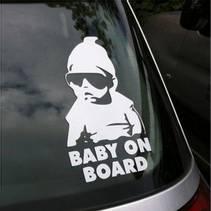 """""""Baby on board"""" Klistremerke for bil."""