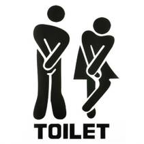 Toilet- Wallsticker