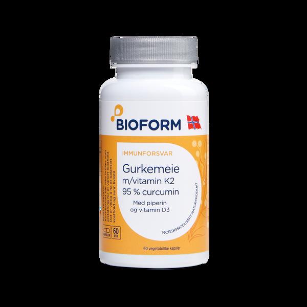 Bilde av Bioform® Gurkemeje (m/vitamin K2 og D3)