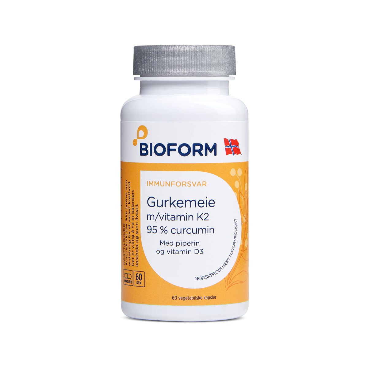 Gurkemeie m/vitamin K2 og D3 (Abonnement) KUN 1 STK. PR. KUNDE