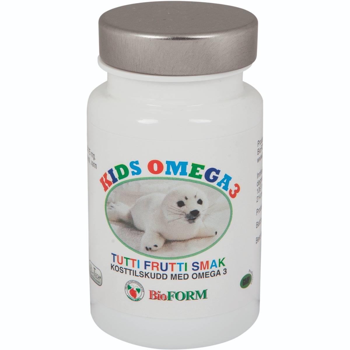 Bioform® Kids Omega -3 (60 kapsler)