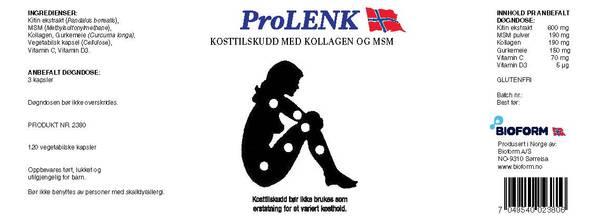 Bilde av Bioform® ProLenk (120 kapslar)