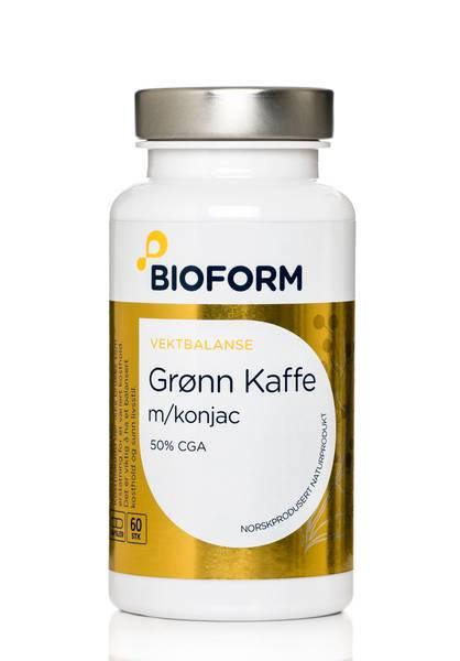 Bilde av Bioform® Grönt Kaffe Kapslar m/konjacrot