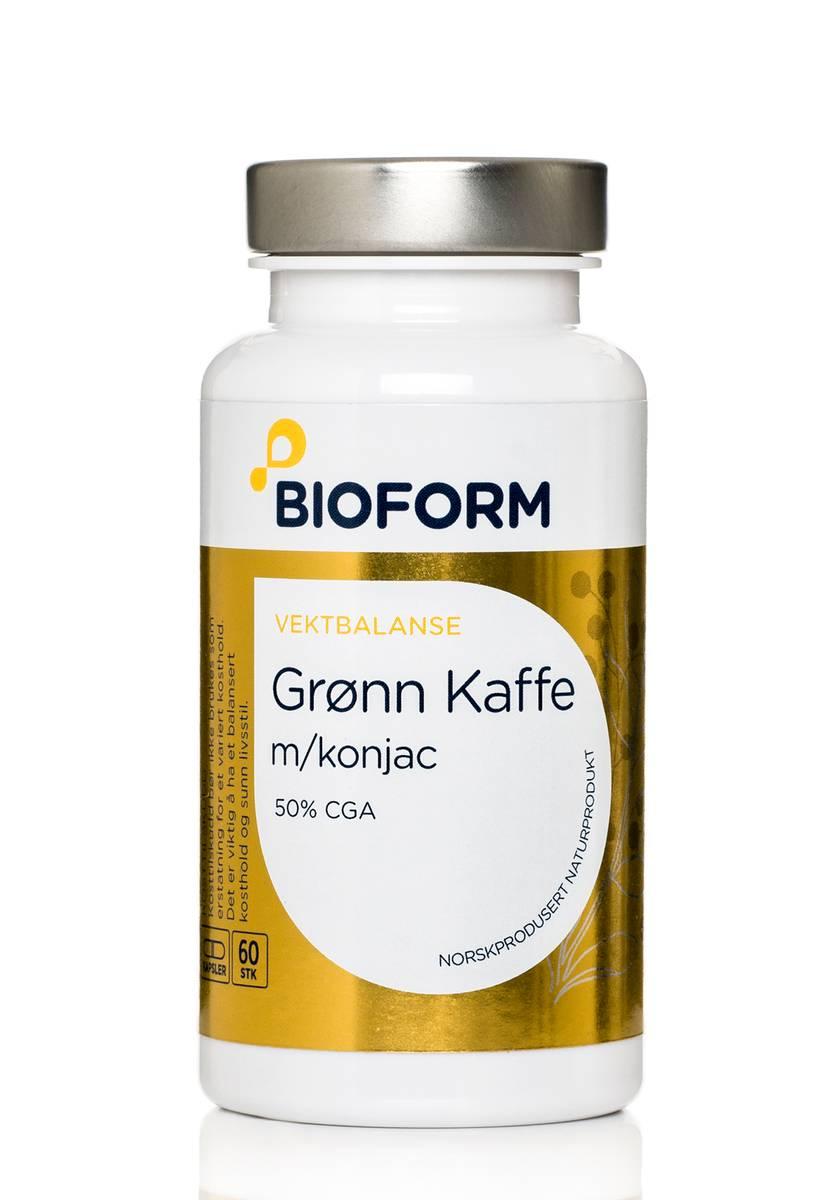 Bioform® Grönt Kaffe Kapslar m/konjacrot