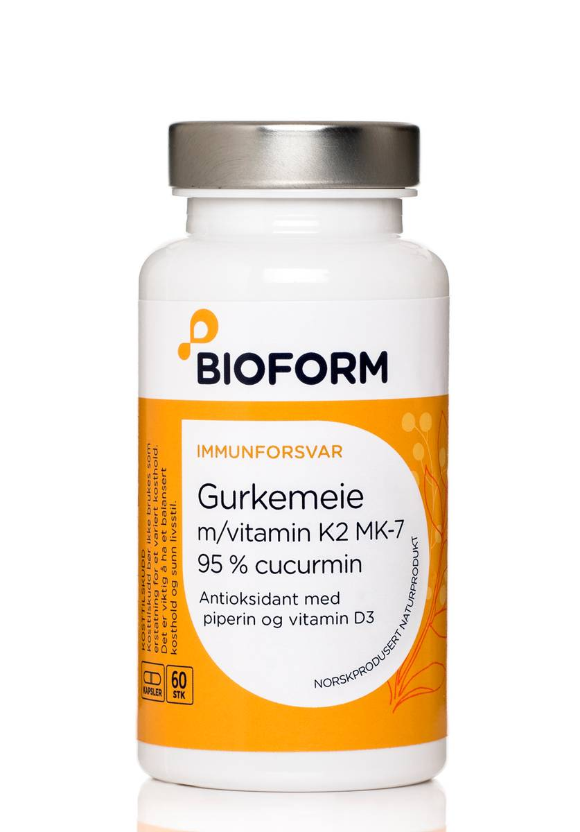 Bioform® Gurkmeja (m/vitamin K2 och D3)