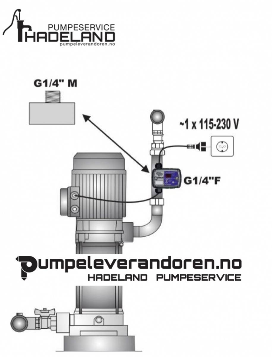 Trykkbryter Elektronisk 1 fas 230V