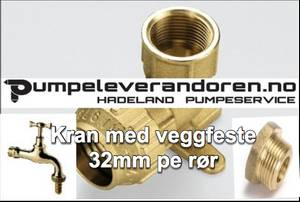 Bilde av Spindelkran messing 3/4
