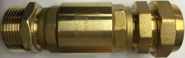 Bilde av Pumpetilkobling med tilbakeslagsventil EBC tykkvegget