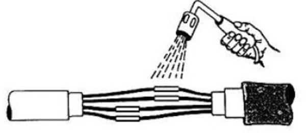 Bilde av Montering ønsket lengde el-kabel på pumpe