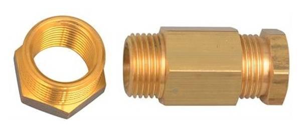 Bilde av Varmekabel pakknippel - innføringsnippel messing