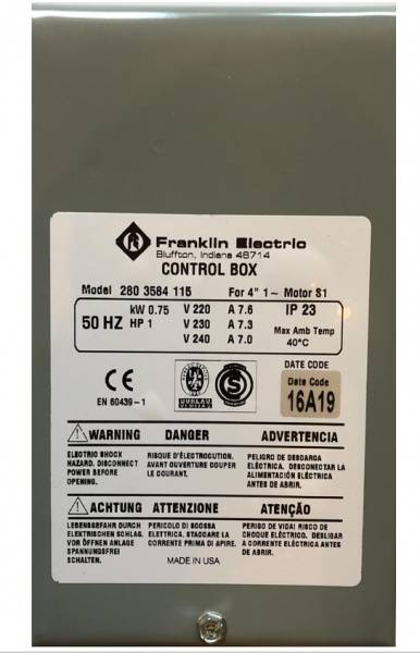 Bilde av Control box 0,75kW Grå box kondensator franklin